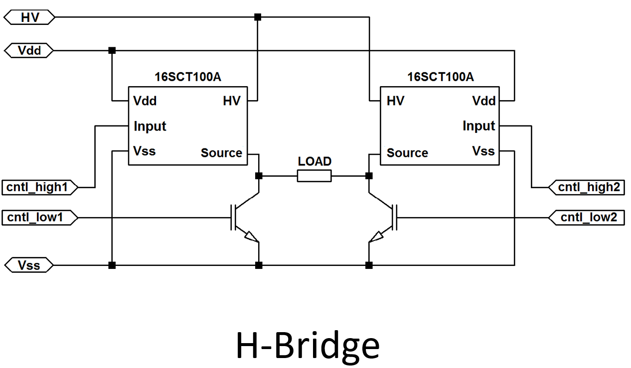 High Side Switch 16SCT100 H-Bridge Application